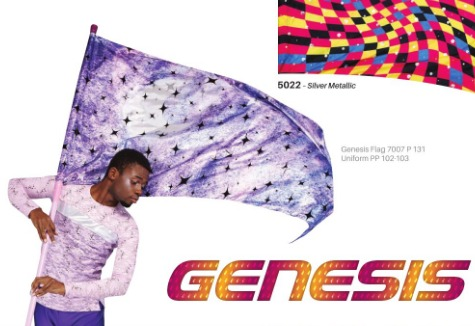Genesis Model Praise worship dance flag