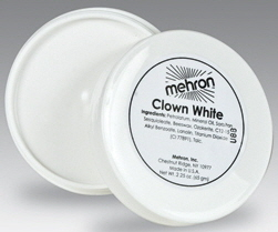 Mehron Clown White Cream Makeup 130